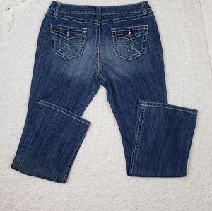INC Curvy Fit Boot Cut Medium Wash Jeans
